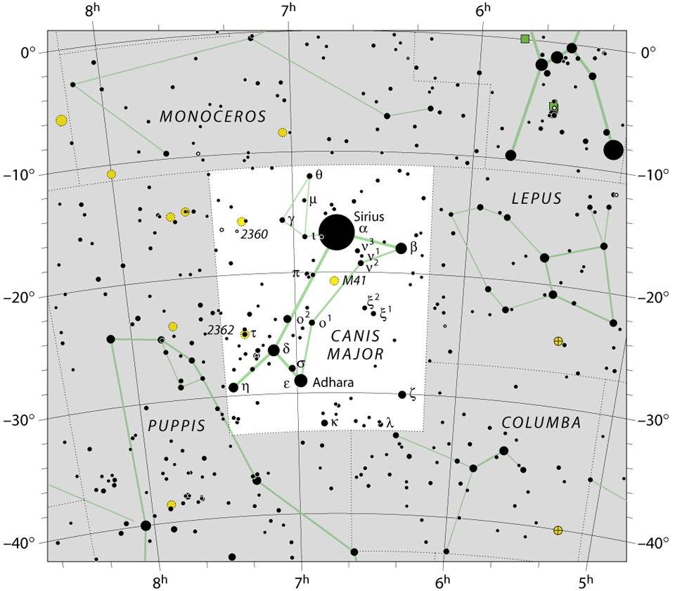 Chart of canis-major